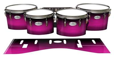 Pearl Championship Maple Tenor Drum Slips - Hot Pink Stain Fade (Pink)