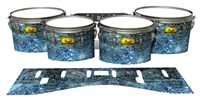 Pearl Championship Maple Tenor Drum Slips (Old) - Aeriform (Blue)