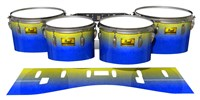 Pearl Championship Maple Tenor Drum Slips (Old) - Afternoon Fade (Blue)