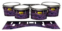 Pearl Championship Maple Tenor Drum Slips (Old) - Alien Purple Grain (Purple)