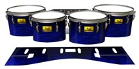 Pearl Championship Maple Tenor Drum Slips (Old) - Andromeda Blue Rosewood (Blue)