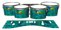 Pearl Championship Maple Tenor Drum Slips (Old) - Aqua Cosmic Glass (Aqua)