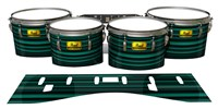 Pearl Championship Maple Tenor Drum Slips (Old) - Aqua Horizon Stripes (Aqua)