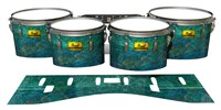 Pearl Championship Maple Tenor Drum Slips (Old) - Aquamarine Blue Pearl (Aqua)