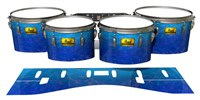 Pearl Championship Maple Tenor Drum Slips (Old) - Aquatic Blue Fade (Blue)