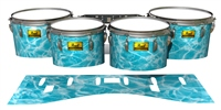 Pearl Championship Maple Tenor Drum Slips (Old) - Aquatic Refraction (Themed)