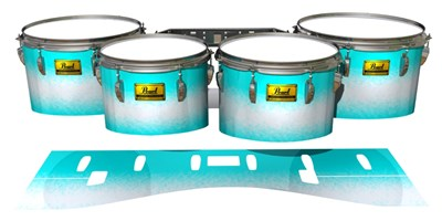 Pearl Championship Maple Tenor Drum Slips (Old) - Aqua Wake (Aqua)