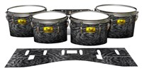 Pearl Championship Maple Tenor Drum Slips (Old) - Ashy Grey Rrosewood (Neutral)