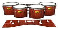 Pearl Championship Maple Tenor Drum Slips (Old) - Autumn Fade (Orange)