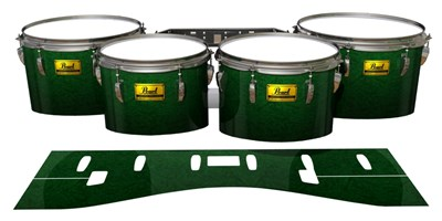Pearl Championship Maple Tenor Drum Slips (Old) - Deep Bamboo (Green)