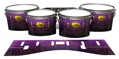 Pearl Championship Maple Tenor Drum Slips (Old) - Purple Dream Fade (Purple)