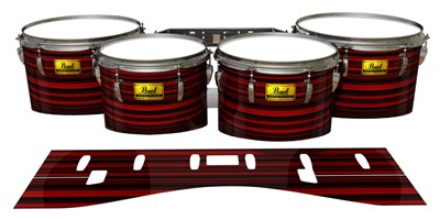 Pearl Championship Maple Tenor Drum Slips (Old) - Red Horizon Stripes (Red)