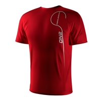 ON2 Percussion - Vertical Logo T-Shirt (Red)