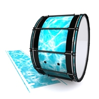 System Blue Professional Series Bass Drum Slip - Aquatic Refraction (Themed)