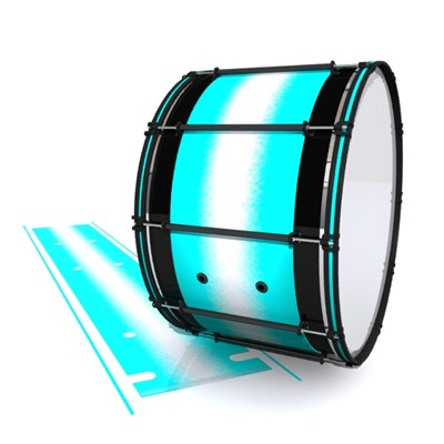 System Blue Professional Series Bass Drum Slip - Aqua Wake (Aqua)