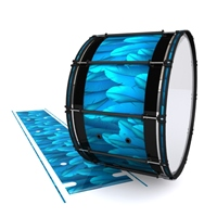 System Blue Professional Series Bass Drum Slip - Blue Feathers (Themed)