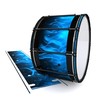 System Blue Professional Series Bass Drum Slip - Blue Flames (Themed)