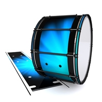 System Blue Professional Series Bass Drum Slip - Blue Light Rays (Themed)