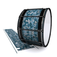 System Blue Professional Series Bass Drum Slip - Blue Slate Traditional Camouflage (Blue)