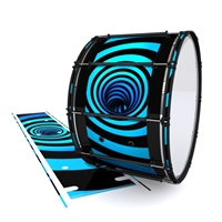 System Blue Professional Series Bass Drum Slip - Blue Vortex Illusion (Themed)