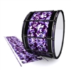 System Blue Professional Series Bass Drum Slip - Coastline Dusk Traditional Camouflage (Purple)