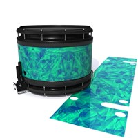 System Blue Professional Series Snare Drum Slip - Aqua Cosmic Glass (Aqua)