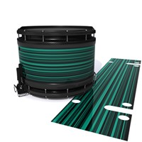 System Blue Professional Series Snare Drum Slip - Aqua Horizon Stripes (Aqua)