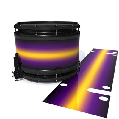 System Blue Professional Series Snare Drum Slip - Light Barrier Fade (Purple) (Yellow)