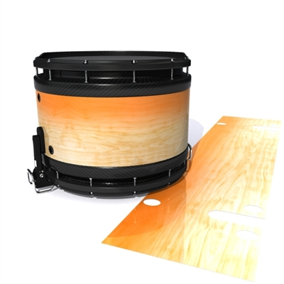 System Blue Professional Series Snare Drum Slip - Maple Woodgrain Orange Fade (Orange)
