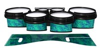 System Blue Professional Series Tenor Drum Slips - Aqua Cosmic Glass (Aqua)