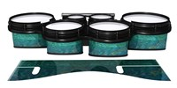 System Blue Professional Series Tenor Drum Slips - Aquamarine Blue Pearl (Aqua)