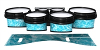 System Blue Professional Series Tenor Drum Slips - Aquatic Refraction (Themed)
