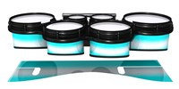 System Blue Professional Series Tenor Drum Slips - Aqua Wake (Aqua)