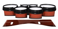 System Blue Professional Series Tenor Drum Slips - Autumn Fade (Orange)