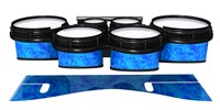 System Blue Professional Series Tenor Drum Slips - Blue Cosmic Glass (Blue)