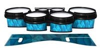 System Blue Professional Series Tenor Drum Slips - Blue Feathers (Themed)