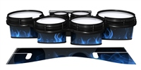 System Blue Professional Series Tenor Drum Slips - Blue Flames (Themed)