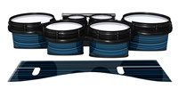 System Blue Professional Series Tenor Drum Slips - Blue Horizon Stripes (Blue)