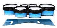 System Blue Professional Series Tenor Drum Slips - Blue Ice (Blue)
