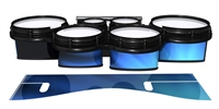 System Blue Professional Series Tenor Drum Slips - Blue Light Rays (Themed)