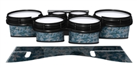 System Blue Professional Series Tenor Drum Slips - Blue Slate Traditional Camouflage (Blue)