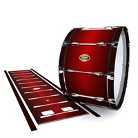 Tama Marching Bass Drum Slip - Apple Maple Fade (Red)