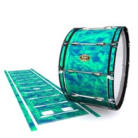 Tama Marching Bass Drum Slip - Aqua Cosmic Glass (Aqua)
