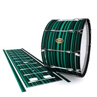 Tama Marching Bass Drum Slip - Aqua Horizon Stripes (Aqua)