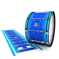 Tama Marching Bass Drum Slip - Aquatic Blue Fade (Blue)