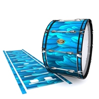 Tama Marching Bass Drum Slip - Blue Feathers (Themed)