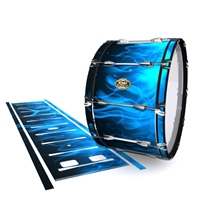 Tama Marching Bass Drum Slip - Blue Flames (Themed)