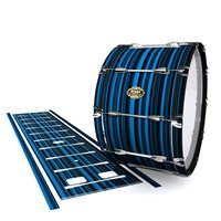 Tama Marching Bass Drum Slip - Blue Horizon Stripes (Blue)