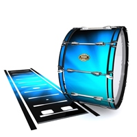 Tama Marching Bass Drum Slip - Blue Light Rays (Themed)
