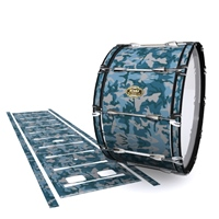 Tama Marching Bass Drum Slip - Blue Slate Traditional Camouflage (Blue)